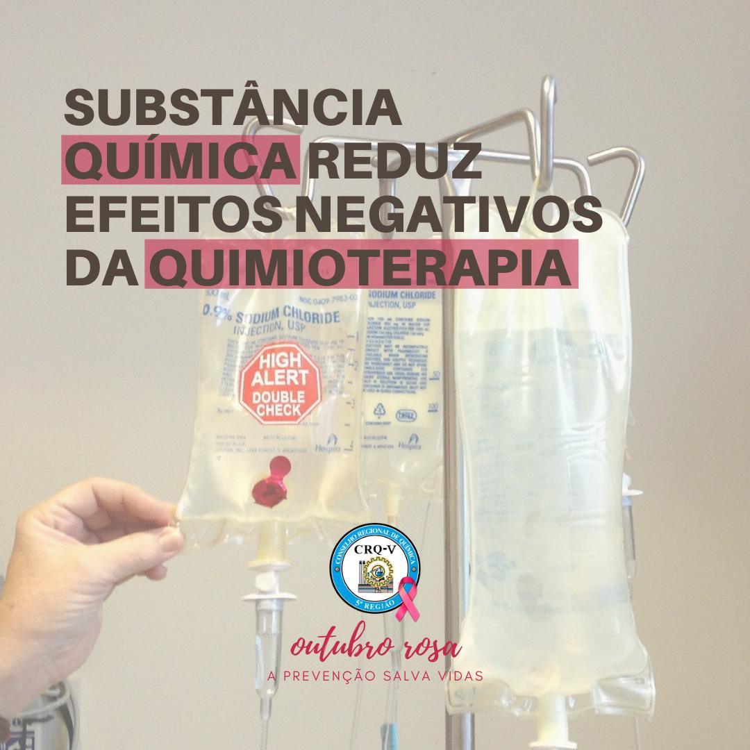SUBSTÂNCIA QUÍMICA REDUZ EFEITOS NEGATIVOS DA QUIMIOTERAPIA